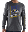 "Baltimore Ravens Majestic NFL ""Dual Threat"" Men's Long Sleeve Charcoal T-Shirt"