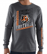 "Cincinnati Bengals Majestic NFL ""Dual Threat"" Men's Long Sleeve Charcoal T-Shirt"