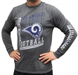 "Los Angeles Rams Majestic NFL ""Dual Threat"" Men's Long Sleeve Charcoal T-Shirt"