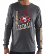 San Francisco 49ers Majestic NFL Dual Threat Men's Long Sleeve Charcoal T-Shirt