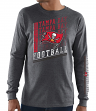 Tampa Bay Buccaneers Majestic NFL Dual Threat Men's Long Sleeve Charcoal T-Shirt