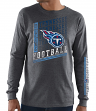 "Tennessee Titans Majestic NFL ""Dual Threat"" Men's Long Sleeve Charcoal T-Shirt"