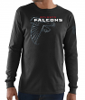 "Atlanta Falcons Majestic NFL ""Elite Reflective"" Men's L/S Black T-Shirt"