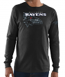 "Baltimore Ravens Majestic NFL ""Elite Reflective"" Men's L/S Black T-Shirt"