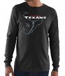 "Houston Texans Majestic NFL ""Elite Reflective"" Men's L/S Black T-Shirt"