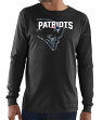 "New England Patriots Majestic NFL ""Elite Reflective"" Men's L/S Black T-Shirt"