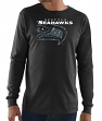 "Seattle Seahawks Majestic NFL ""Elite Reflective"" Men's L/S Black T-Shirt"