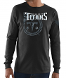 "Tennessee Titans Majestic NFL ""Elite Reflective"" Men's L/S Black T-Shirt"
