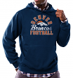 "Denver Broncos Majestic NFL ""Kick Return 3"" Men's Navy Hooded Sweatshirt"