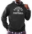 "Oakland Raiders Majestic NFL ""Kick Return 3"" Men's Black Hooded Sweatshirt"