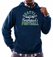 "Seattle Seahawks Majestic NFL ""Kick Return 3"" Men's Navy Hooded Sweatshirt"