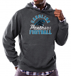 "Carolina Panthers Majestic NFL ""Kick Return 3"" Men's Charcoal Hooded Sweatshirt"