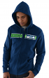 "Seattle Seahawks Majestic NFL ""Touchback 2"" Men's Full Zip Hooded Sweatshirt"
