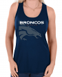 "Denver Broncos Women's Majestic NFL ""Pregame"" Dual Blend Tank Top Shirt"