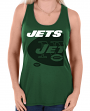 "New York Jets Women's Majestic NFL ""Pregame"" Dual Blend Tank Top Shirt"