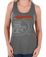 "San Francisco 49ers Women's Majestic NFL ""Pregame"" Dual Blend Tank Top Shirt"