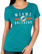 """Miami Dolphins Women's Majestic NFL """"Franchise Fit 3"""" Short Sleeve T-shirt"""