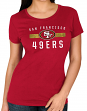 "San Francisco 49ers Women's Majestic NFL ""Franchise Fit 3"" Short Sleeve T-shirt"