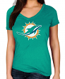 "Miami Dolphins Women's Majestic NFL ""Legendary Look"" Short Sleeve T-shirt"