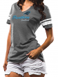 "Carolina Panthers Women's Majestic NFL ""Game Tradition 2"" Tri-Blend T-shirt"