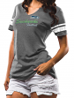 "Seattle Seahawks Women's Majestic NFL ""Game Tradition 2"" Tri-Blend T-shirt"