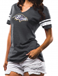 "Baltimore Ravens Women's Majestic NFL ""Break the Tie"" Tri-Blend T-shirt"