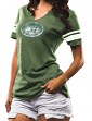 "New York Jets Women's Majestic NFL ""Break the Tie"" Tri-Blend T-shirt"