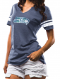 "Seattle Seahawks Women's Majestic NFL ""Break the Tie"" Tri-Blend T-shirt"