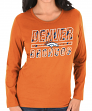 "Denver Broncos Women's Majestic NFL ""Quick Out"" Long Sleeve T-shirt"