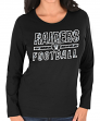 "Oakland Raiders Women's Majestic NFL ""Quick Out"" Long Sleeve T-shirt"