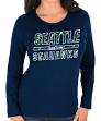 """Seattle Seahawks Women's Majestic NFL """"Quick Out"""" Long Sleeve T-shirt"""