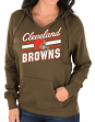 """Cleveland Browns Women's Majestic NFL """"Highlight Play"""" Hooded Sweatshirt"""