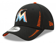 "Miami Marlins New Era 9Forty MLB ""Speed"" Performance Adjustable Hat - Black"