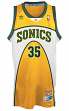 Kevin Durant Seattle Supersonics Adidas NBA Throwback Swingman Jersey - Gold