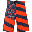 "Chicago Bears NFL ""Diagonal Flag"" Men's Boardshorts Swim Trunks"