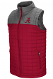 "Alabama Crimson Tide NCAA ""Amplitude"" Men's Full Zip Quilted Puff Vest"