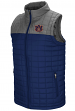 "Auburn Tigers NCAA ""Amplitude"" Men's Full Zip Quilted Puff Vest"