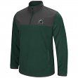 "Michigan State Spartans NCAA ""Blocker"" Men's 1/4 Zip Corduroy Fleece Jacket"