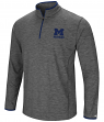 "Michigan Wolverines NCAA ""Diemert"" 1/4 Zip Pullover Men's Charcoal Wind Shirt"