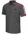 "Arkansas Razorbacks NCAA ""Southpaw"" Men's Performance Polo Shirt - Charcoal"