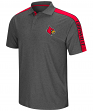 """Louisville Cardinals NCAA """"Southpaw"""" Men's Performance Polo Shirt - Charcoal"""