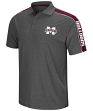 Mississippi State Bulldogs NCAA Southpaw Men's Performance Polo Shirt - Charcoal