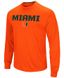 "Miami Hurricanes NCAA ""Power Set"" Men's Long Sleeve Performance T-Shirt"