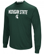 "Michigan State Spartans NCAA ""Power Set"" Men's Long Sleeve Performance T-Shirt"