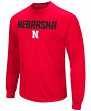 "Nebraska Cornhuskers NCAA ""Power Set"" Men's Long Sleeve Performance T-Shirt"