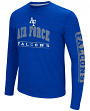 "Air Force Falcons NCAA ""Sky Box"" Long Sleeve Dual Blend Men's T-Shirt"