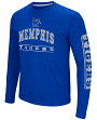"Memphis Tigers NCAA ""Sky Box"" Long Sleeve Dual Blend Men's T-Shirt"