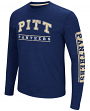 "Pittsburgh Panthers NCAA ""Sky Box"" Long Sleeve Dual Blend Men's T-Shirt"