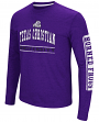 "TCU Horned Frogs NCAA ""Sky Box"" Long Sleeve Dual Blend Men's T-Shirt"