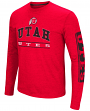 "Utah Utes NCAA ""Sky Box"" Long Sleeve Dual Blend Men's T-Shirt"